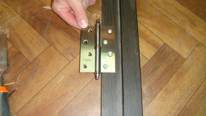 Как врезать петли на дверь своими руками 13
